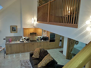 open plan downstairs self catering